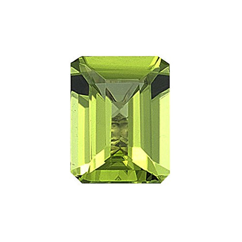 2.00 Cts of 9x7 mm AA Emerald-Cut Peridot (1 pc) Loose Gemstone