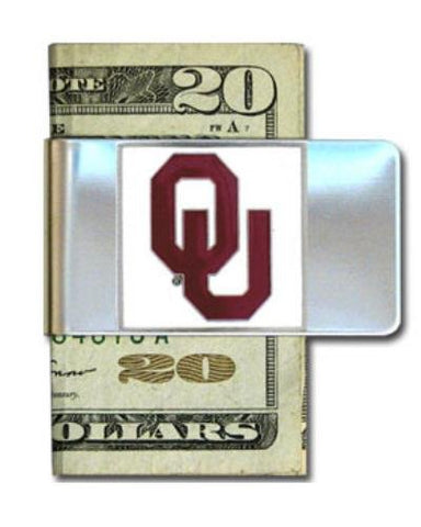 Oklahoma Sooners Steel Money Clip