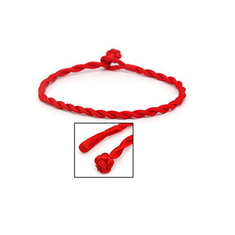 Kabbalah Red Strings Braided Bracelet for Good Luck,Wealth & Love