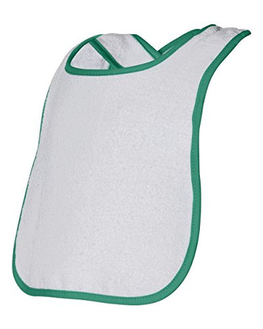 Rabbit Skins 1003 Infant Snap Bib w/ Contrast Color Binding, Kelly