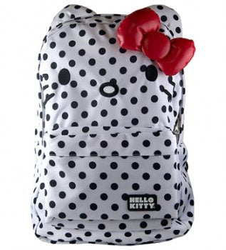 Hello Kitty White and Black Polka Dot Backpack