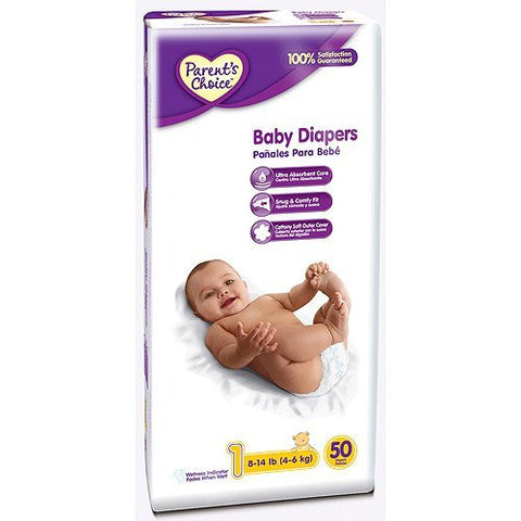 Parents Choice - Diapers, count 50, Size 1