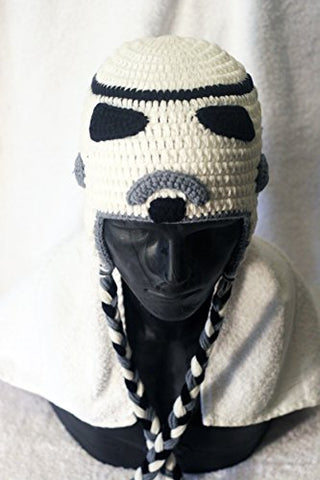 Milk protein cotton yarn handmade Stormtrooper hat - fits 3-12 month old baby