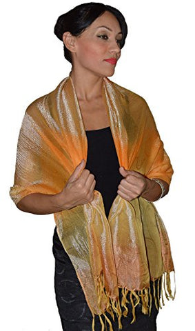 Moroccan Shoulder Shawl Breathable Oblong Head Scarf Silky Soft Exquisite Wrap Yellow