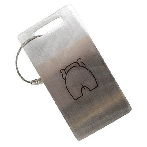 Elephant Butt Stainless Steel Luggage Tag, Luggage Tag