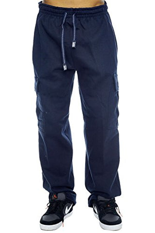 Pro Club Cargo Sweat pants 13oz Heavy Weight 60/40 S-5XL (X-Large (40 42 ), Navy)