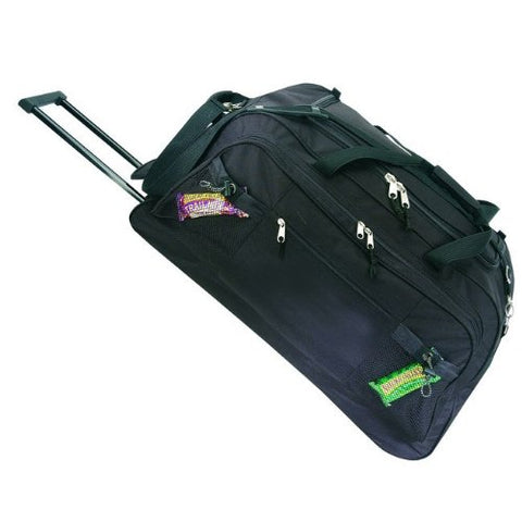 Travel Vacation 28  Rolling Duffel Bag with Wheels - Black