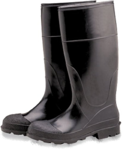 Industrial PVC Rubber Boots, Plain Toe 16 , Size 10