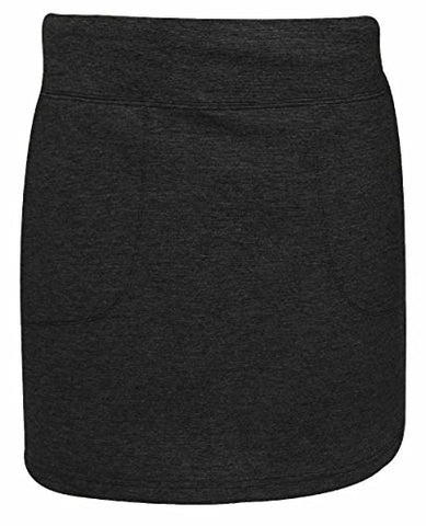 Ixspa Womens Pull On Knit Skort Black Xl