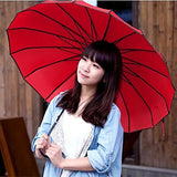 Outgeek Vintage Parasol Umbrella Sunshade Stick Umbrella Hook Handle Photo Props