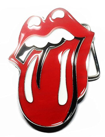 The Rolling Stones Tongue Red Metal/Enamel Belt Buckle