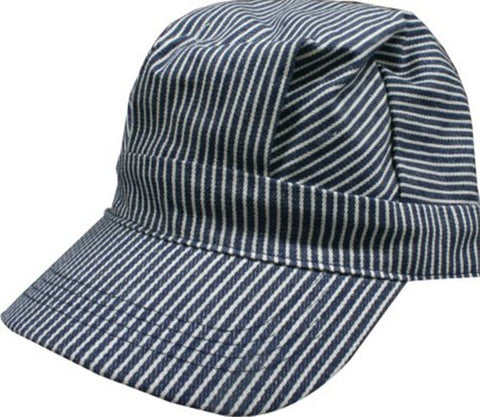 Hickory Striped Railroad Hat - Toddler - Boys - Blue [ht04-01]