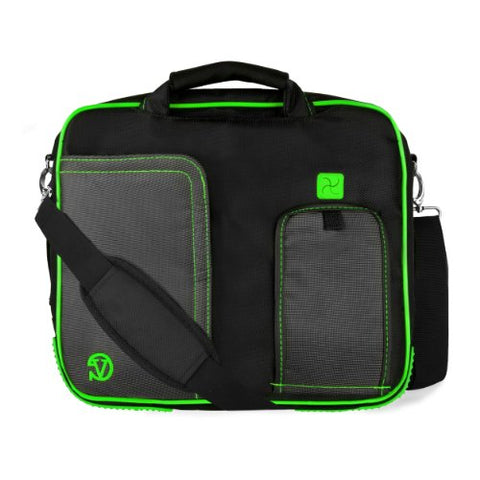 VanGoddy Pindar Messenger Carrying Bag for Samsung Galaxy Note PRO 12.2 / Samsung Galaxy Tab PRO 12.2  Tablets (Green)