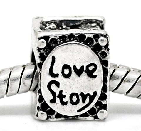 Best Wing Jewelry  Love Story Book  Charm Bead for Snake Chain Bracelets