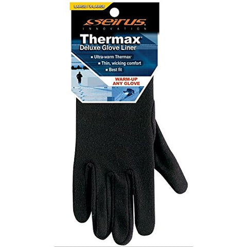 Seirus Innovation Men's Deluxe Thermax Liners,Large/X-Large,Black