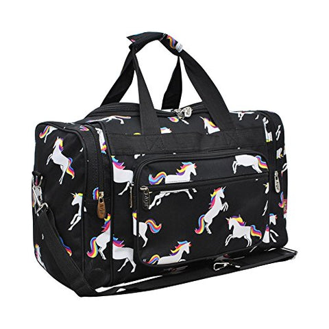 Unicorn Print NGIL Canvas Carry on 17  Duffle Bag