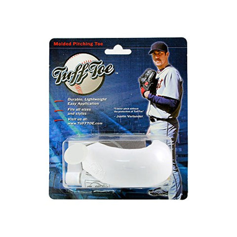 Tuff Toe Molded Pitching Toe (White, Left)