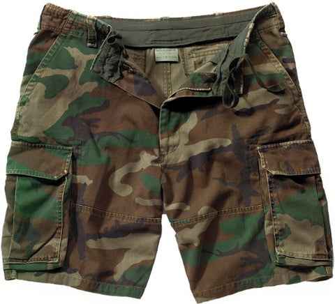 Retro Camouflage BDU Shorts, Camo, Small