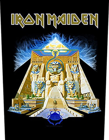 Iron Maiden Powerslave Official Back Patch (36cm x 29cm)