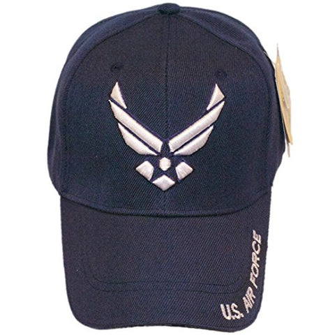 US Air Force Wings Emblem  Served  Baseball Cap Hat (Navy Blue)