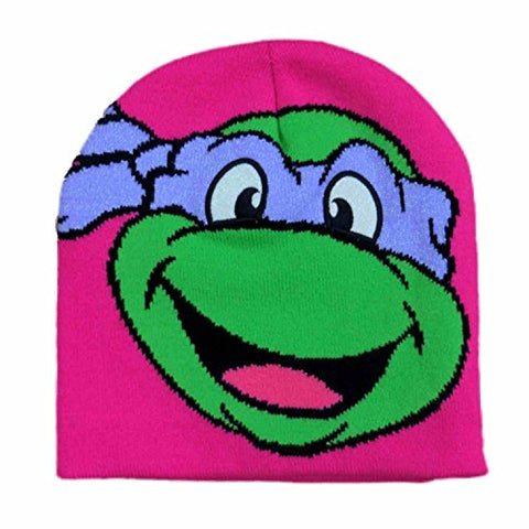 Teenage Mutant Ninja Turtles Girls Pink Donatello Beanie Stocking Cap Winter Hat