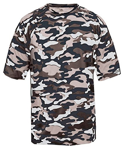 Badger 4181 Adult Camo Tee - Navy Camouflage44; Medium