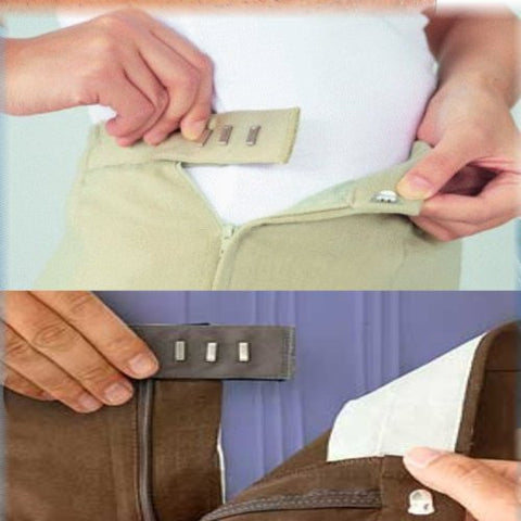 Easy Fit Hooks & Buttons: Waist Size Adjusting Extension Packs (2 Sets)