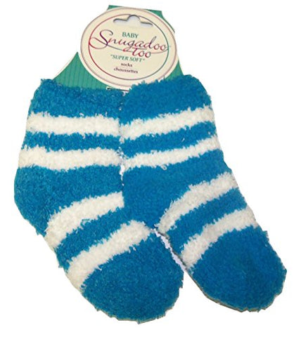 Snugadoo Too  Super Soft  Baby Socks ~ Size 2T - 3T (Teal with White Stripes)