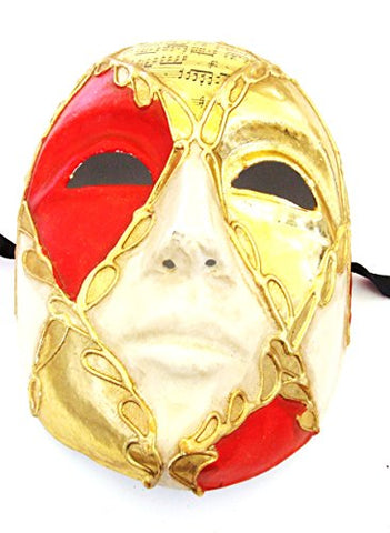 Venetian Mask Red Diamond Eye Masquerade Halloween Costume