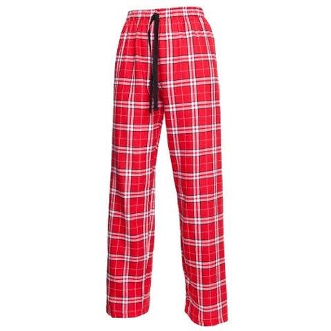 Boxercraft Plaid 100% Cotton Flannel Pant F20, Red/White/Black - Youth Small