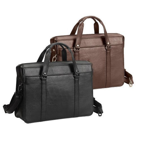 The Insider Soft Leather Briefcase (Bellino)-BROWN