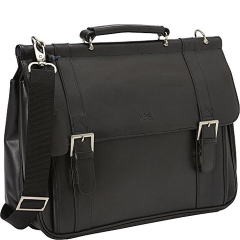 Mancini Leather Goods 15.6  Laptop and Tablet Business Briefcase (Black)