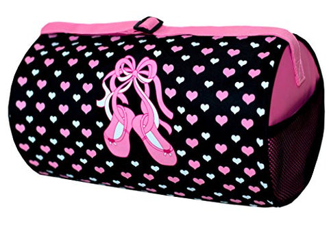 Sassi Designs Slippers 'n Hearts Small Roll Duffel Size: Small 7  x 12