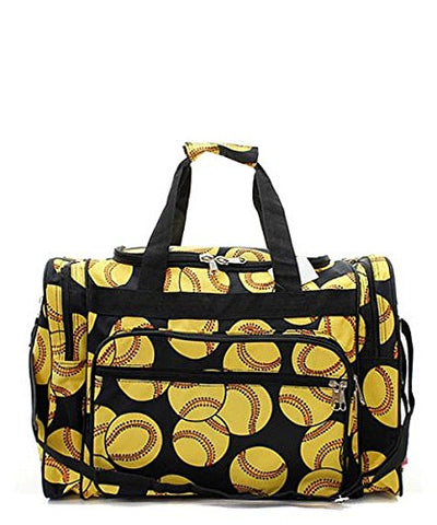 SOFTBALL PRINT 23  OVERNIGHT DUFFEL BAG WITH SHOULDER STRAP