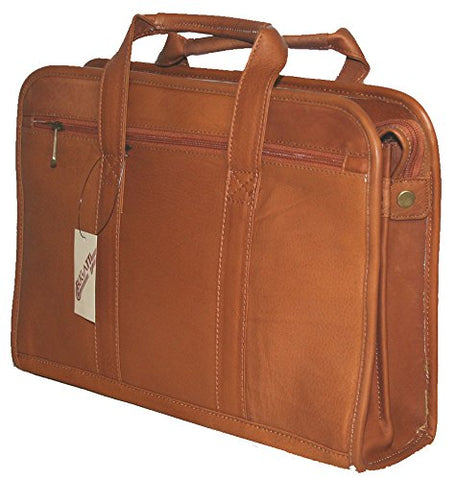 Special Colombian Cognac Vaquetta Leather Briefcase Laptop