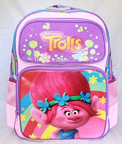 Trolls Princess Poppy Girls Cartoon Kids Large School Backpack Bookbag
