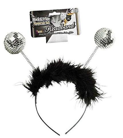 Forum Novelties Silver Sequin Bopper Headband