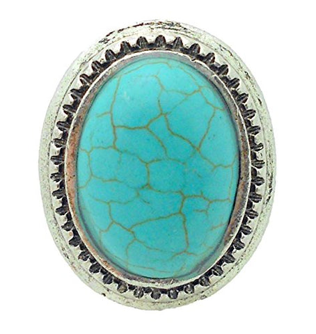 Vintage Antique Style Turquoise Stone Ring - One Size Fits Most