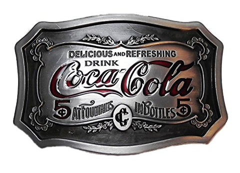 Coca Cola Classic Logo Pewter Finish Belt Buckle