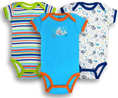 Spencer's Boys Variety Bodysuits- Whales- 9/12M