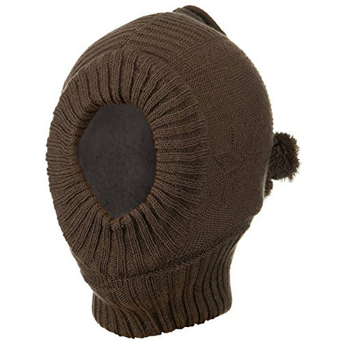 Solid Children Ski Mask - Brown