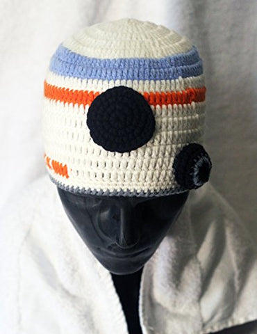 Milk protein cotton yarn handmade BB-8 BB8 hat - fits Preteen, Teen and Adult Female