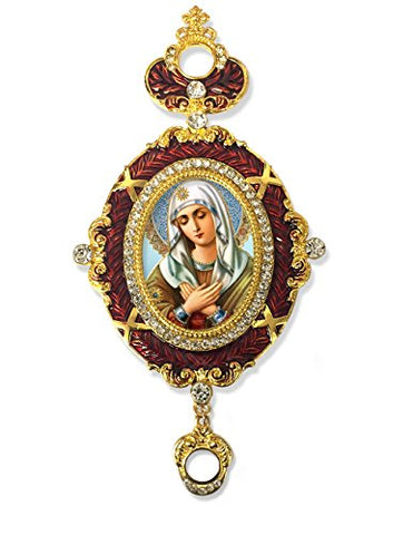 Our Lady Of Sorrows Blessed Virgin Mary Icon Pendant Crown 5 3/4 Inch