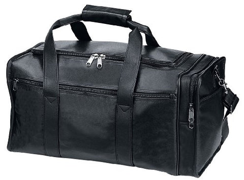 Travel Business Trip Leather Duffel Bag Black