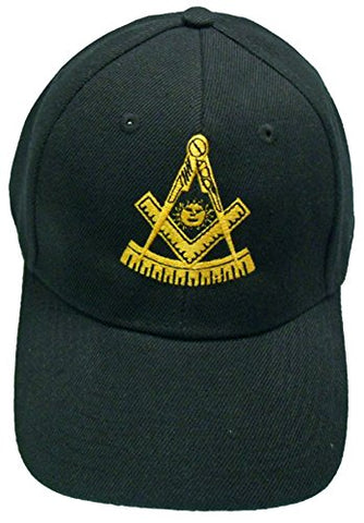 Buy Caps and Hats Past Master Mason Baseball Cap Freemason Hat Mens One Size Black