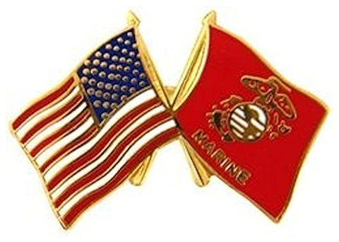 USA USMC Flags Small Hat Pin