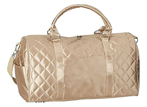 Superdeals Store Gold Ladies Quilted Plaid Travel Overnight Carry On Duffle