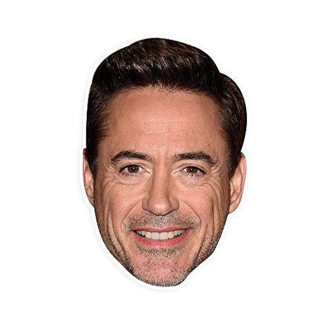 Neutral Robert Downey Jr. Mask - Perfect for Halloween, Masquerade, Parties, Events, Festivals, Concerts - Jumbo Size Waterproof Laminated