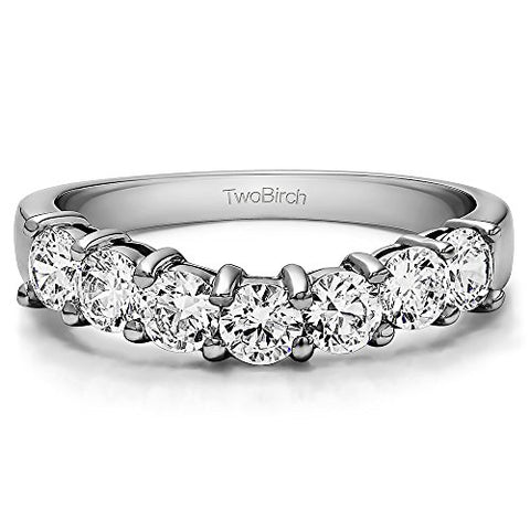 Cubic Zirconia Classic Style Wedding Ring In Sterling Silver(0.25Ct)Size 3 To 15 in 1/4 Size Interval