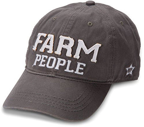 We People Farm People Adjustable Baseball Cap, Gray